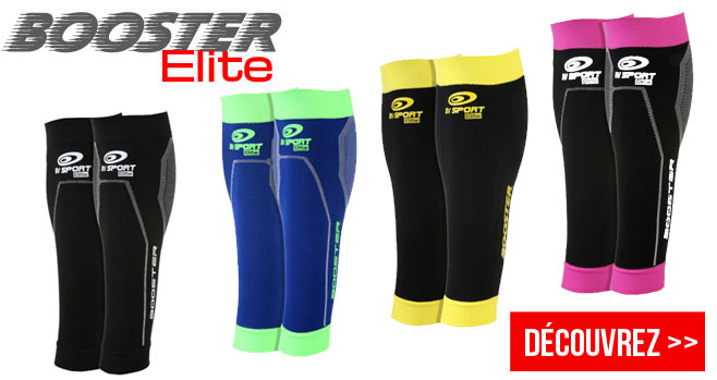 BV Sport : booster elite bv sport manchon mollet de compression sportive