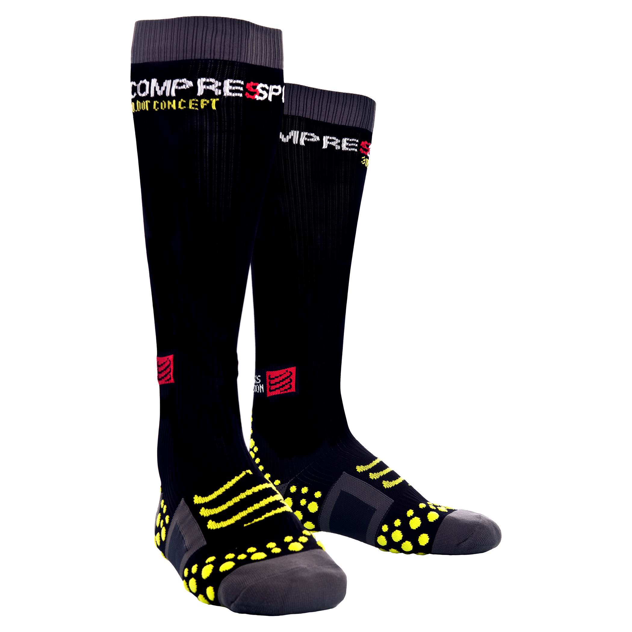 chaussettes de compression compressport full socks noir. Black Bedroom Furniture Sets. Home Design Ideas